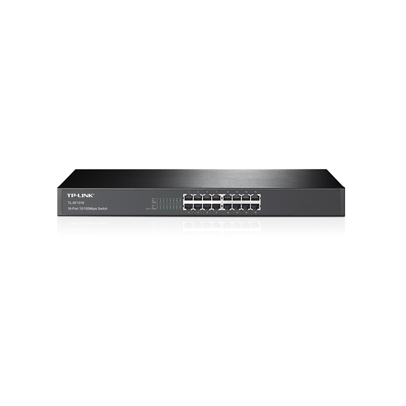 SWITCH CON 16 PUERTOS A 10/100MBPS, PARA RACK.