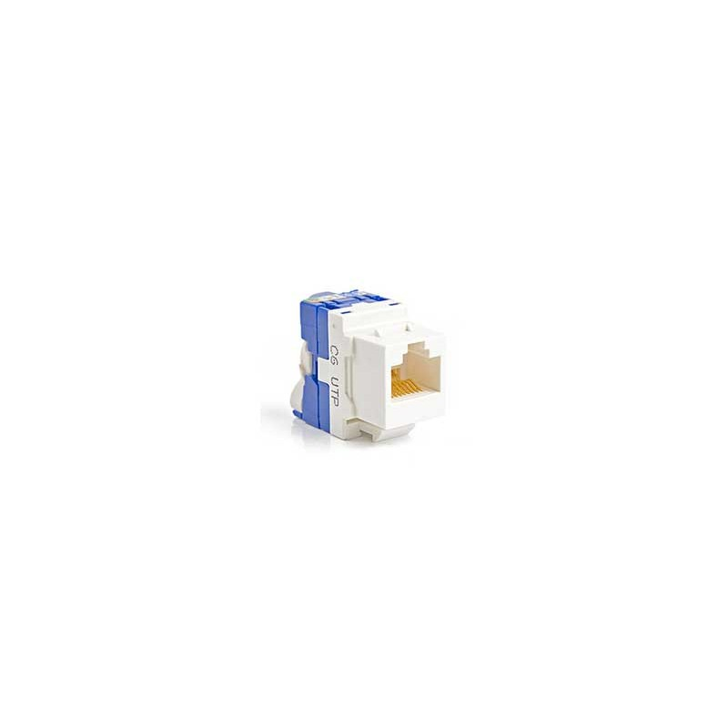 CONECTOR HEMBRA RJ45 CAT.6 UTP TOOLESS ROTARY 180º- FRONTAL
