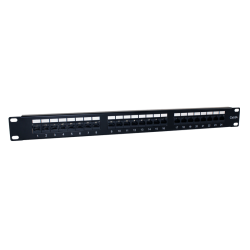 "PATCH PANEL 19"" CAT.6A 24 PUERTOS UTP - FRONTAL"