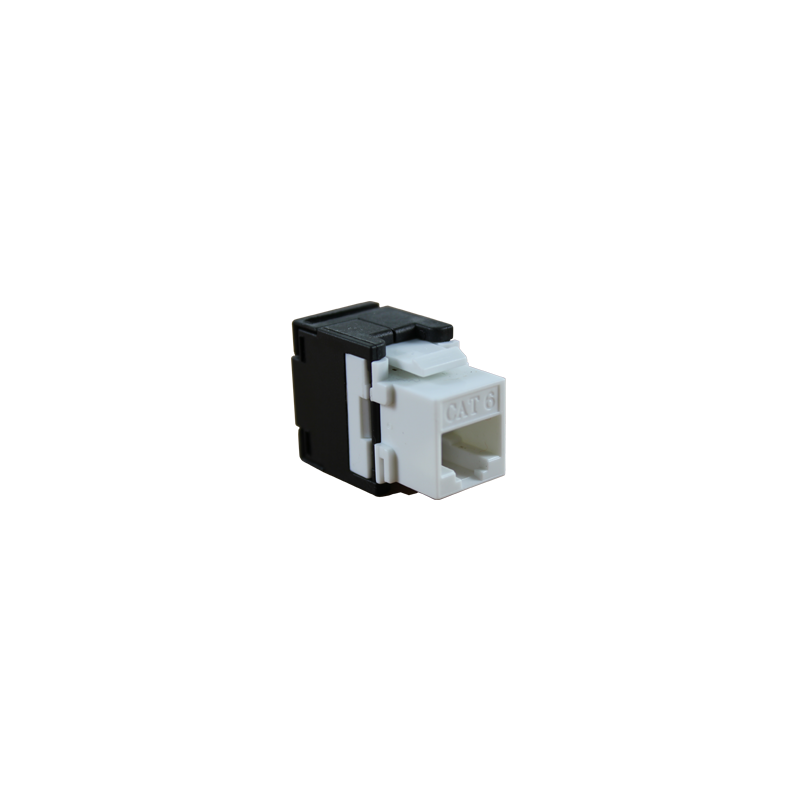 CONECTOR HEMBRA RJ45 CAT.6 UTP TOOLESS 180º.