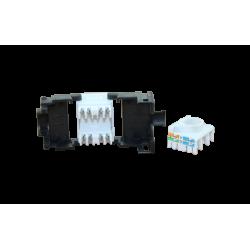 CONECTOR HEMBRA RJ45 CAT.6 UTP TOOLESS 180º- ABIERTO
