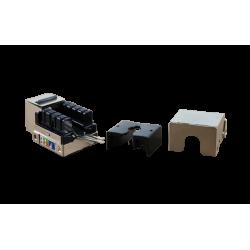 CONECTOR HEMBRA RJ45 CAT.6 FTP 90º- ABIERTO