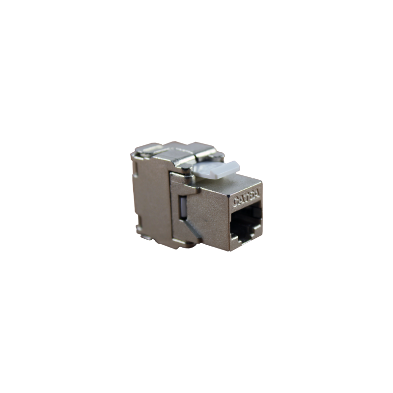 CONECTOR HEMBRA RJ45 CAT.6A FTP 180º- LATERAL