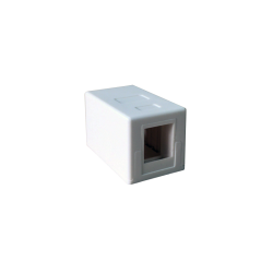 MINI CAJA SUPERFICIE PARA 1 RJ45-FRONTAL