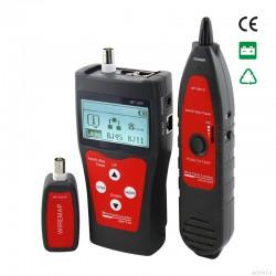 TESTER REDES TELECOMUNICACIONES CON PANTALLA LCD- FRONTAL