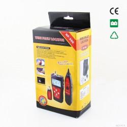TESTER REDES TELECOMUNICACIONES CON PANTALLA LCD- CAJA