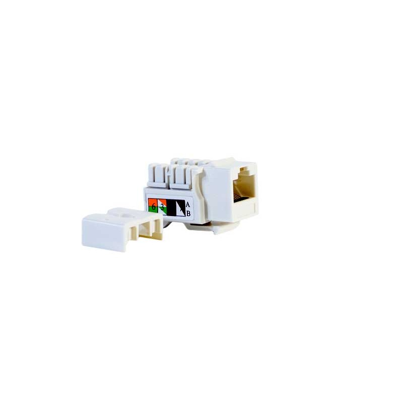 CONECTOR HEMBRA RJ45 CAT.6 UTP 90º- LATERAL
