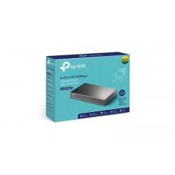 SWITCH SOBREMESA 8 PUERTOS 4x10/100Mbps + 4x10/100Mbps PoE- caja