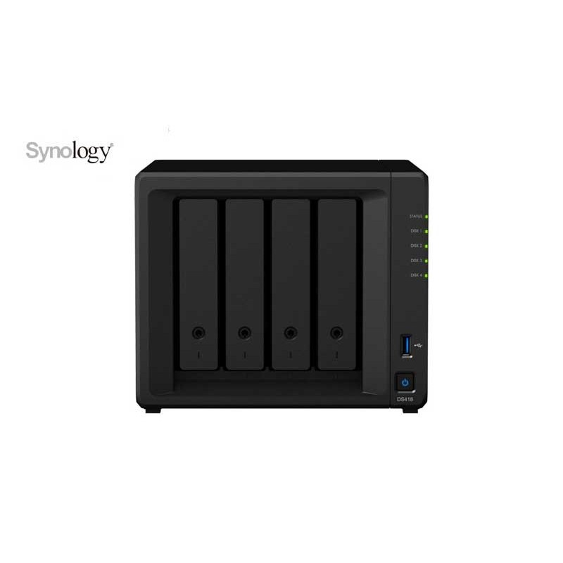 SYNOLOGY DS418 NAS 4 Bay Disk Station - frontal