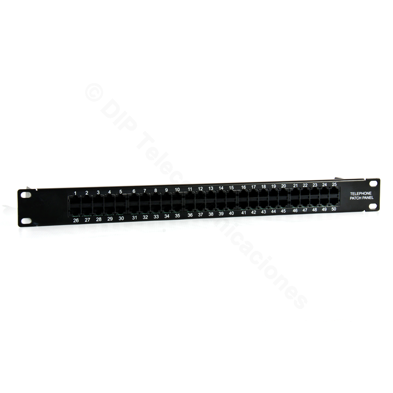 "PATCH PANEL 19"" 1U TELEFONIA 50 PUERTOS"