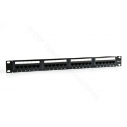 "PATCH PANEL 19"" CAT.6 24 PUERTOS UTP - FRONTAL"