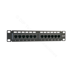 "PATCH PANEL 10"" CAT.6 12 PUERTOS UTP - FRONTAL"