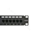 "PATCH PANEL 10"" CAT.6 12 PUERTOS UTP"