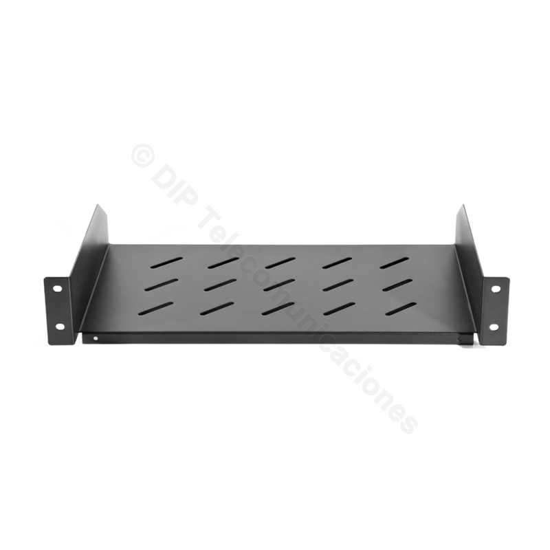 "BANDEJA RACK 19"" 2U SUJ.FRONTAL PROF.300mm."