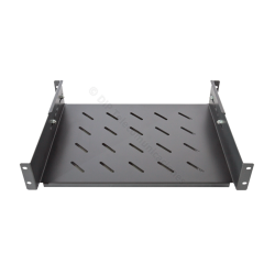 "BANDEJA RACK 19"" 2U PROF. REAL 350mm EXTENSIBLE- FRONTAL"