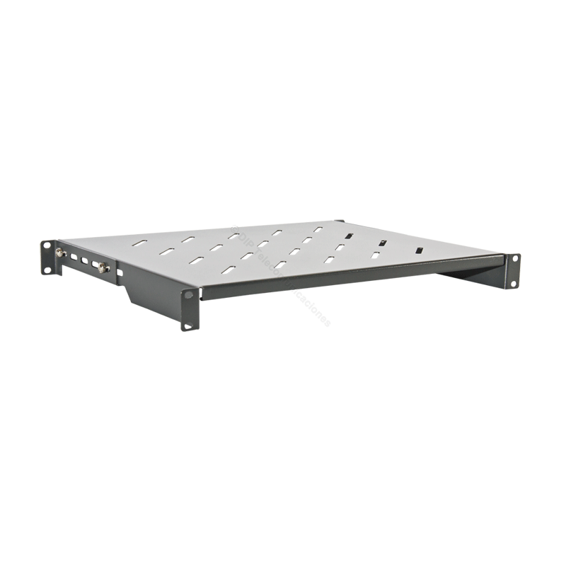 "BANDEJA RACK 19"" 1U PROF. REAL 350mm EXTENSIBLE."