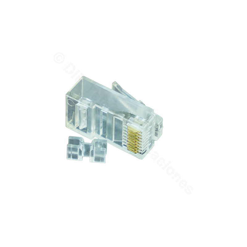 CONECTOR MACHO RJ45 CAT.6A UTP 2 ELEMENTOS /UNIDAD
