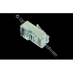 CONECTOR MACHO RJ45 CAT.6 FTP ( BOLSA DE 100 Und)
