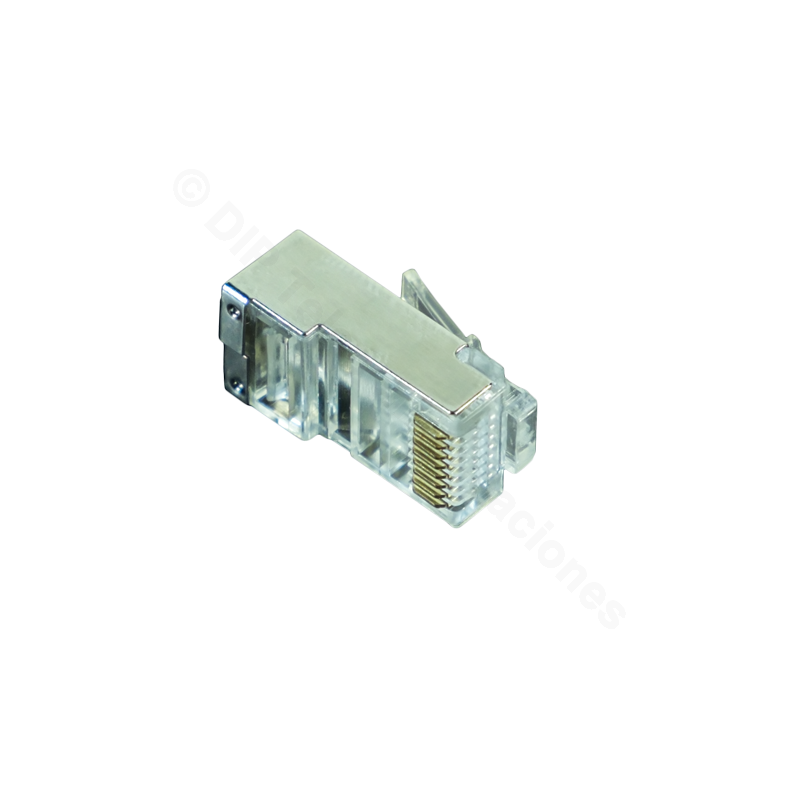 CONECTOR MACHO RJ45 CAT.6 FTP ( BOLSA DE 100)