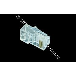 CONECTOR MACHO RJ45 CAT.6 UTP (BOLSA DE 100 Und)