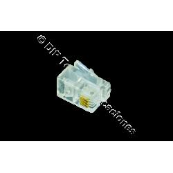 CONECTOR MACHO RJ09 4 VIAS TEL. (BOLSA DE 100 Und)