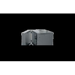 "ARMARIO RACK 9U MURAL 19"" 600X600X501mm DOBLE CUERPO- DETALLE TRASERA"