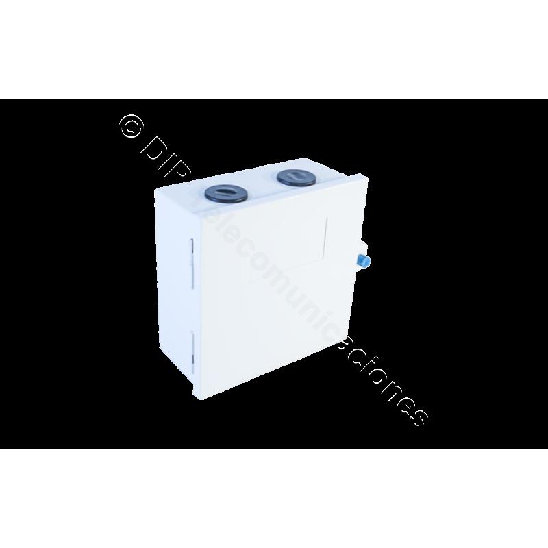 CAJA BASTIDOR 30 PARES KRONE CON LLAVE 16.3X16.3X7.5