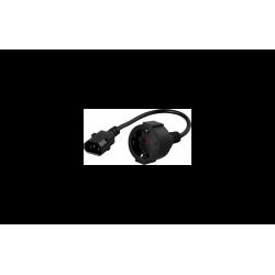 CABLE ELECTRICO IEC C14/SCHUKO HEMBRA.