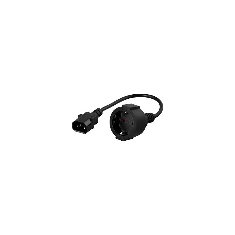 CABLE ELECTRICO IEC C14/SCHUKO HEMBRA