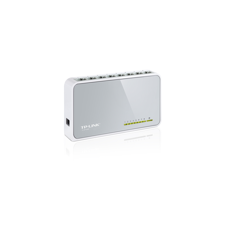 SWITCH DE SOBREMESA MINI CON 8 PUERTOS 10/100MBPS- FRONTAL