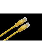 Latiguillo RJ45 Cat.6 UTP color amarillo – DIP Telecomunicaciones